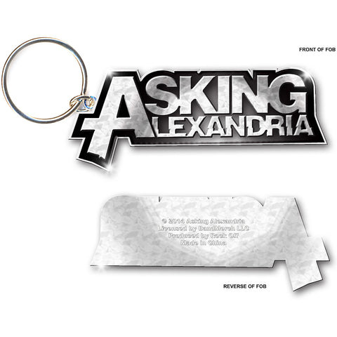 Asking Alexandria - Metal Logo Keychain (UK Import)