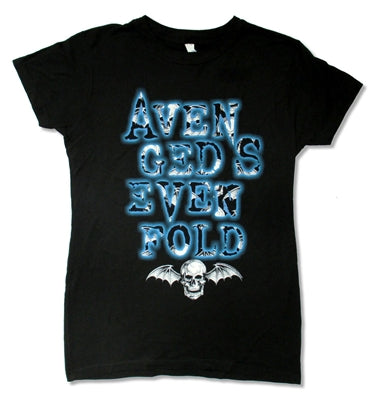 Avenged Sevenfold - Batfill Stacked Juniors Girly Baby Doll Tee