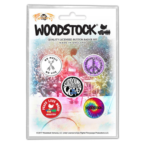 Woodstock - Surround Yourself - Button Badge Set - UK Import