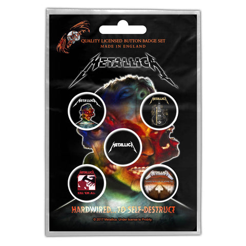 Metallica - Hardwired Button Badge Pack (UK Import)