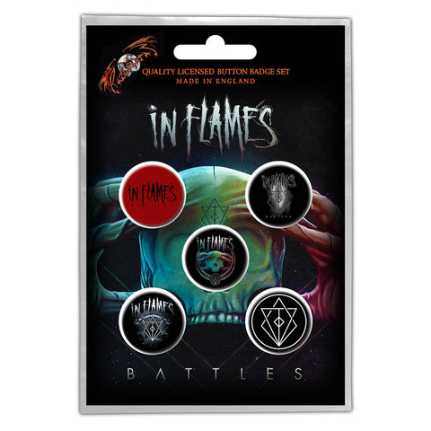 In Flames - Battles Button Badge Pack (UK Import)