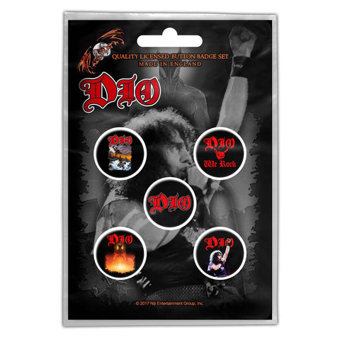 DIO - We Rock Button Badge Pack (UK Import)