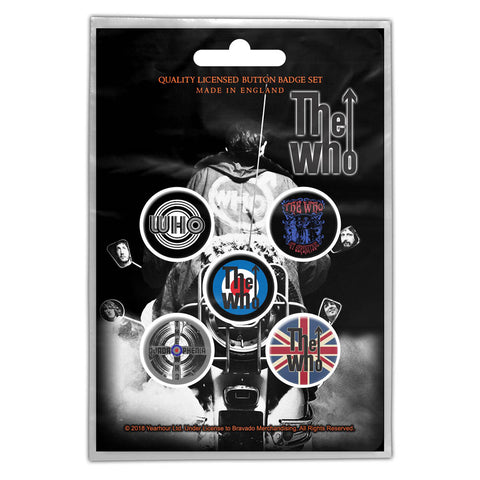 The Who - Quadrophenia Button Badge Pack (UK Import)