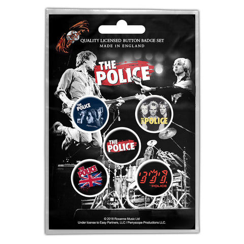 The Police - Various Live - Button Badge Set - UK Import