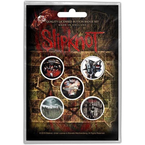 Slipknot - Albums Button Badge Pack (UK Import)