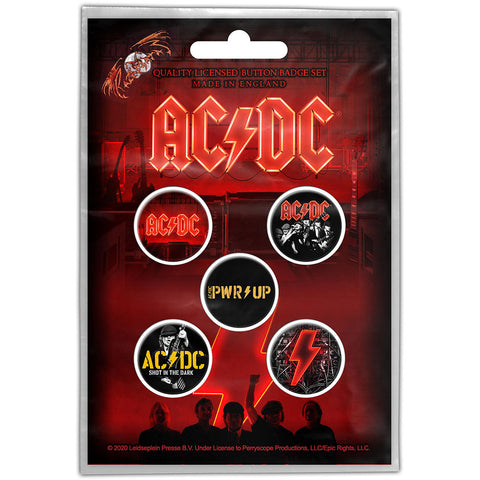 AC/DC - Button Badge Set - PWR-UP - UK Import