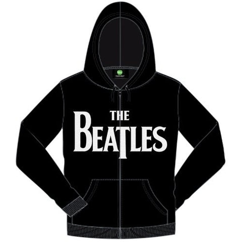 The Beatles - Drop T Logo Zip Hoodie (UK Import)