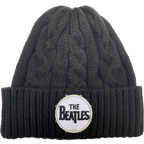 The Beatles - Cable Knit Drum Logo - Beanie (UK Import)