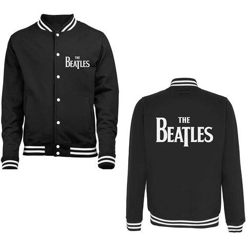 The Beatles - Drop T Logo Varsity Jacket (UK Import)