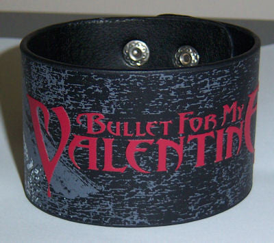 Bullet For My Valentine - Bird Leather Wristband