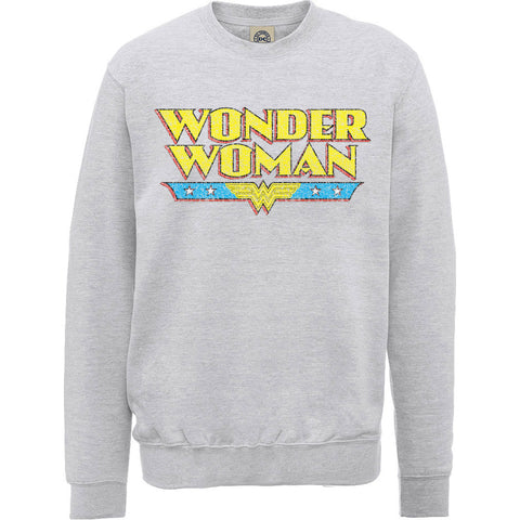 Wonder Woman - Logo Crackle - Crewneck Sweater (UK Import)