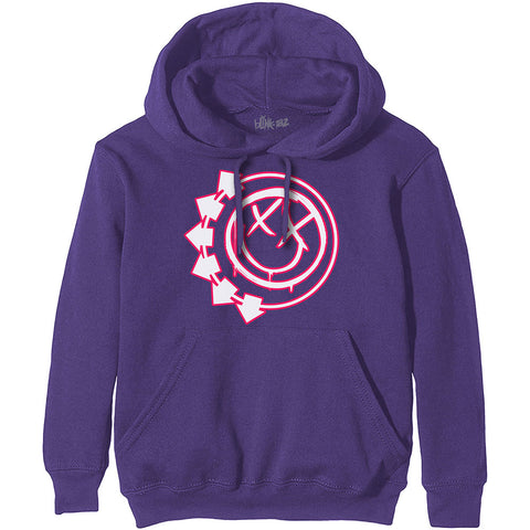 Blink-182 - Six Arrow Smiley Purple Pullover Hoodie (UK Import)
