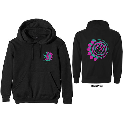 Blink-182 - Double Six Arrow Smiley Black Zip Hoodie (UK Import)