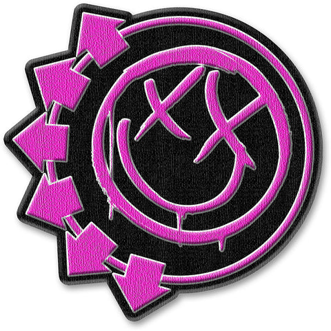 Blink-182 - Patch - Standard - UK Import - Pink Neon Six Arrows - Collector's Patch
