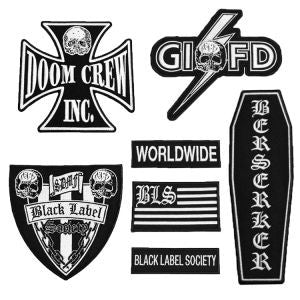 Black Label Society - Front Patch Set