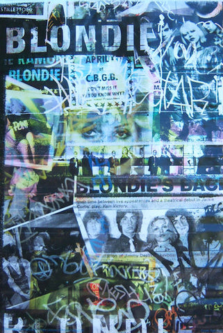 Blondie - Collage Rolled - Poster
