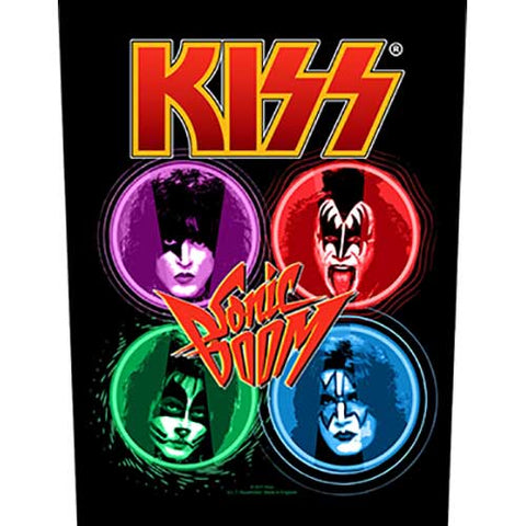 KISS - Sonic Boom Back Patch (UK Import)