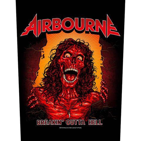 Airbourne - Breakin' Outa Hell Back Patch (UK Import)