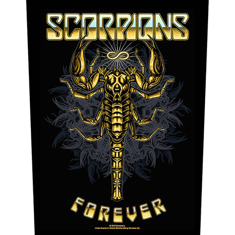 Scorpions - Forever - Back Patch (UK Import)