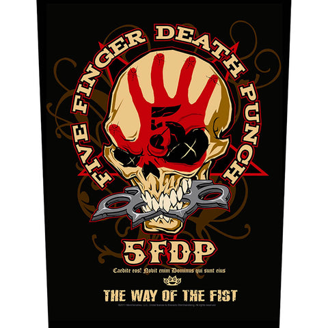 Five Finger Death Punch - Way Of The Fist Back Patch (UK Import)