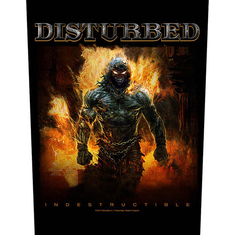 Disturbed - Indestructible Back Patch (UK Import)