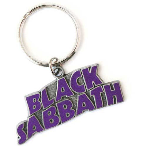 Black Sabbath - Metal Purple Logo Keychain (UK Import)