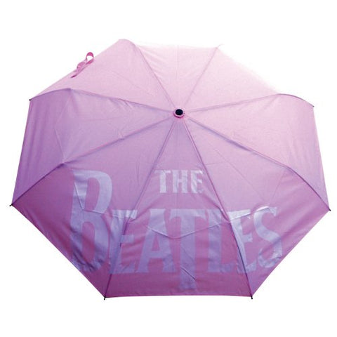 The Beatles - Drop T Logo With Retractable Fitting Umbrella (UK Import)