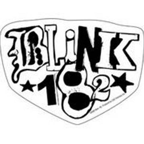 Blink 182 - Sticker - White Black Logo [5 X 3.75 Inches]
