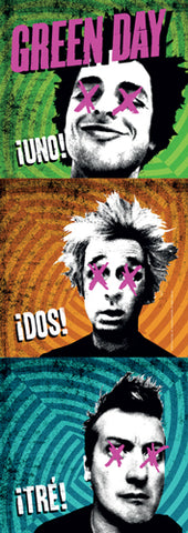 Green Day - Uno Dos Tre Door Size Flag