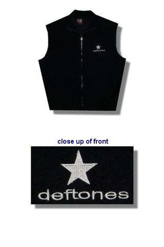 Deftones - Embroidered Logo Polar Fleece Tek Vest
