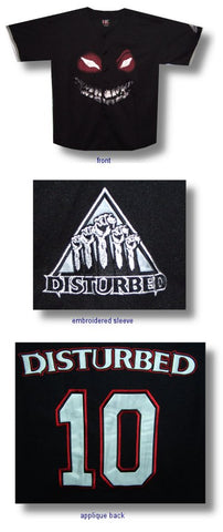 Disturbed - Face Sox Button Down Baseball Jersey