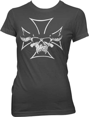 Danzig - Skull Cross - Juniors Girly Tee