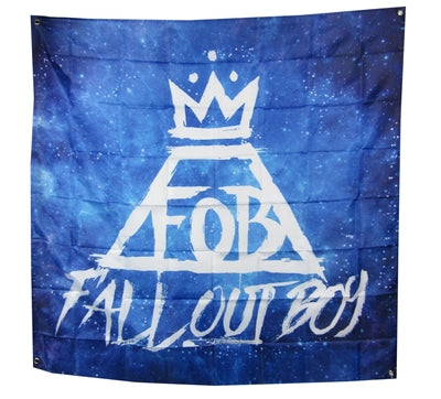 Fall Out Boy - Crown Blue Poster Flag
