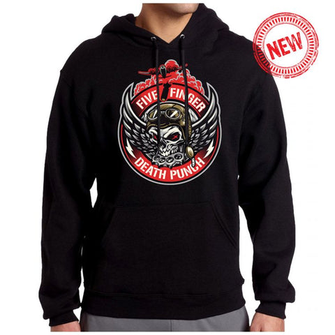 Five Finger Death Punch - Bomber Patch Pullover Hoodie