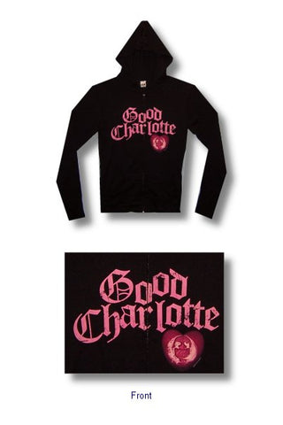 Good Charlotte - Icon Heart Zip Up Junior Girly Hoodie