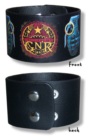 Guns N Roses - Grenades Leather Wristband