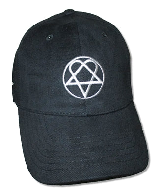 HIM - Silver Heartagram Fitted Hat