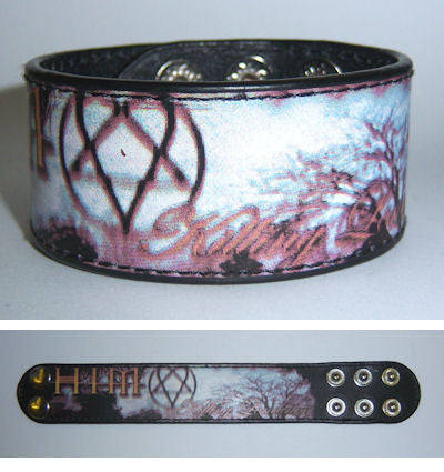 HIM - Killing Loneliness Thin Leather Wristband