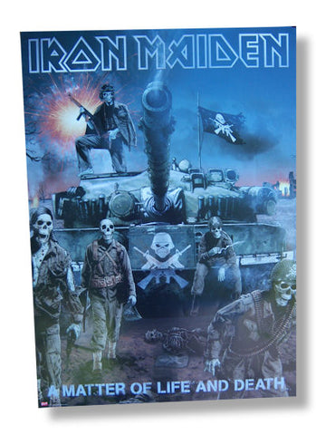 Iron Maiden - Life & Death Rolled - Poster