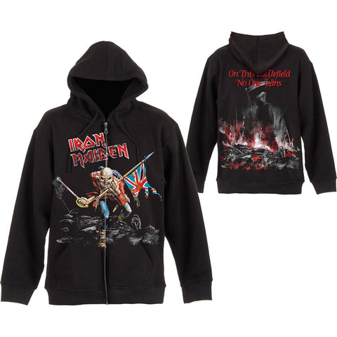 Iron Maiden - Scuffed Trooper Battlefield Zip Hoodie (UK Import)
