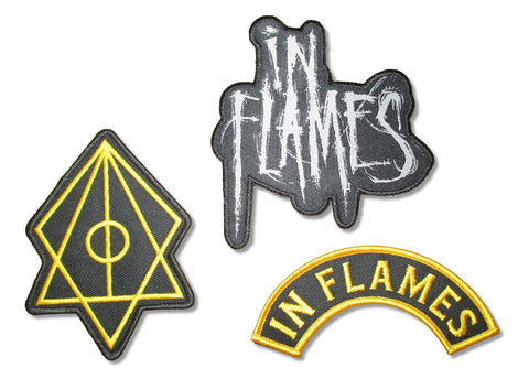 In Flames - 3 Piece Embroidered Patch Set