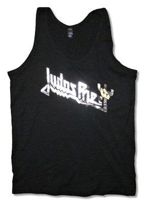 Judas Priest - Foil Logo Juniors Girly Tank Top