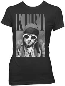 Nirvana - Cobain With Shades Juniors Girly Tee