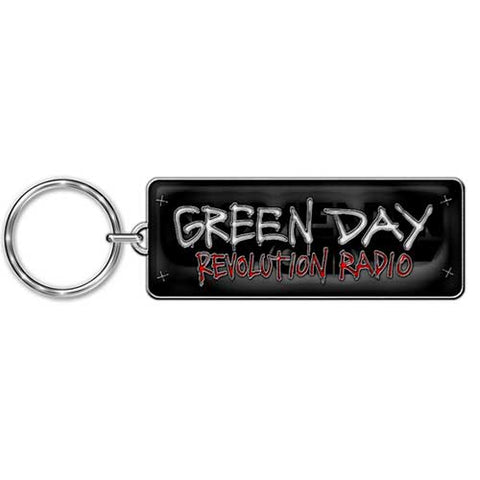 Green Day - Rev Radio Metal Logo Keychain (UK Import)