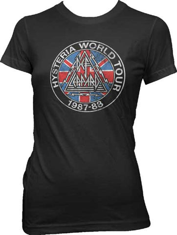 Def Leppard - Hysteria World Juniors Girly Tee