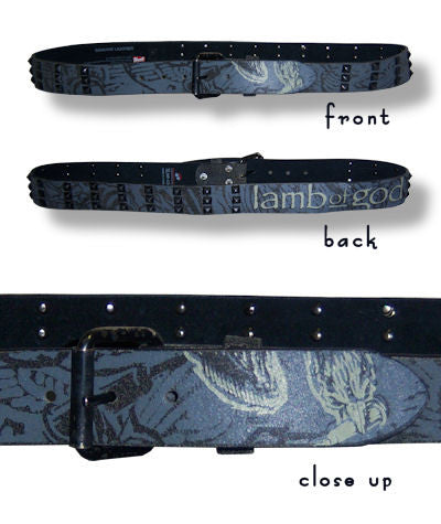 Lamb Of God - Studded Leather Belt