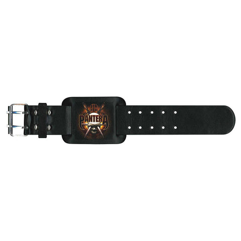 Pantera - Leather Logo Metal Strap - Wristband (UK Import)