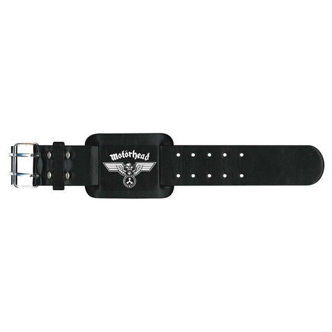 Motorhead - Hammered Leather Logo Metal Strap - Wristband (UK Import)