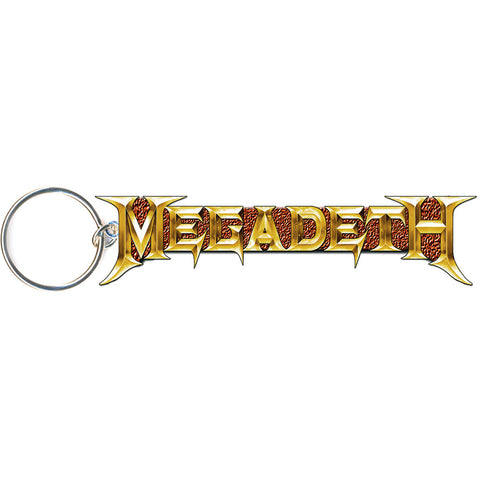 Megadeth - Gold Logo Metal Keychain (UK Import)