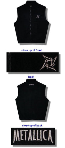 Metallica - Embroidered Logo Polar Fleece Tek Vest